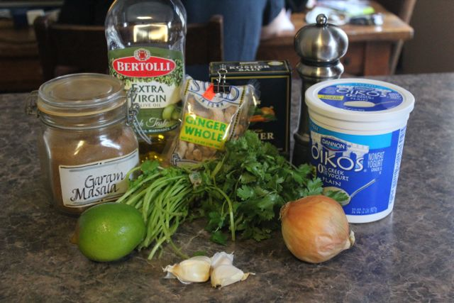 My ingredients - all ready to go