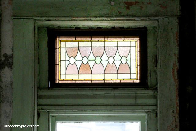 Transom in an office window